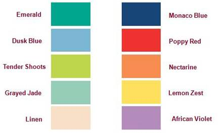 Spring Color Trends - 2013