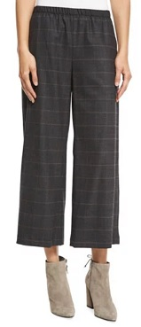 Eileen Fisher Plaid Cropped Pants
